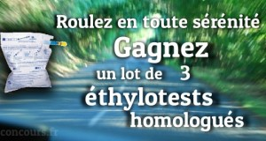 Gagnez un lot de 3 ethylotests homologues