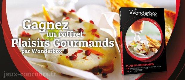 Remportez un Coffret Plaisirs Gourmands