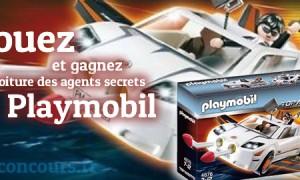Gagnez la voiture des agents secrets playmobil
