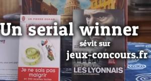 ATTENTION : Il y a un serial winner sur le site….