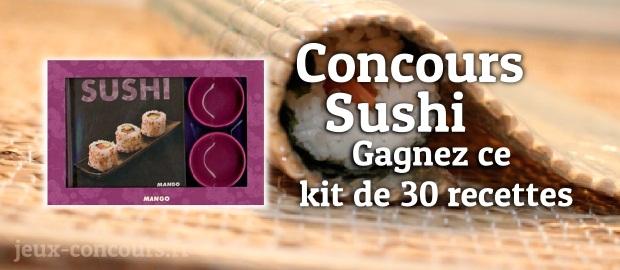 Concours Sushi : Kit de 30 recettes