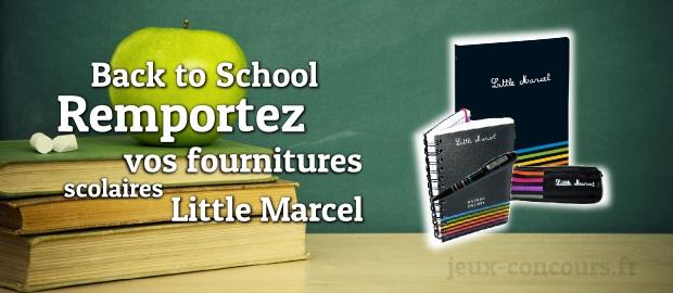 Back to school avec le kit de fournitures scolaires Little Marcel