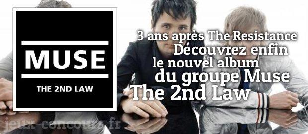 Remportez l'album The 2nd Law de Muse