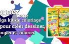 Méga kit de coloriage pour créer dessiner, découper et colorier