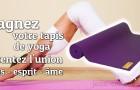 Détente et Bien être garanti avec ce tapis de Yoga