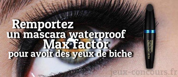 Mascara waterproof Max Factor à gagner