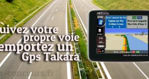 Remportez un GPS Takara