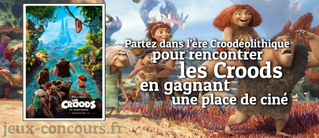 jouez et gagnez une place de cin ma pour les croods. Black Bedroom Furniture Sets. Home Design Ideas