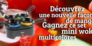 Remportez un Set de 4 Mini Wok Multicolores