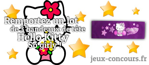 concours hello kitty jeux concours. Black Bedroom Furniture Sets. Home Design Ideas