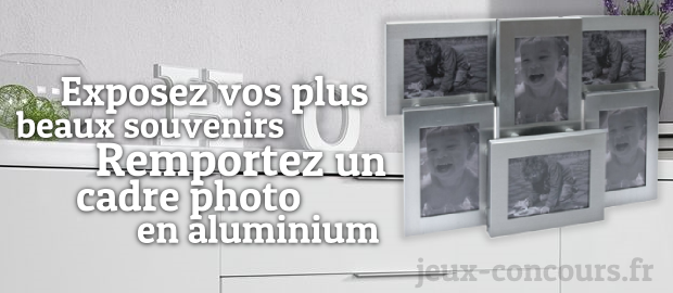 gagnez un cadre photo en aluminium. Black Bedroom Furniture Sets. Home Design Ideas