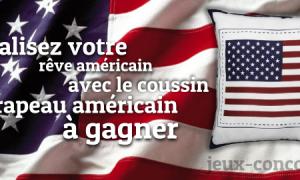 Gagnez un coussin drapeau américain